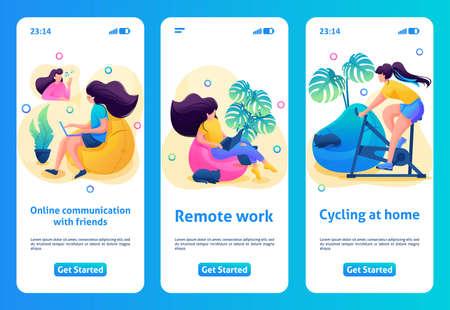 Mobile app design, template.