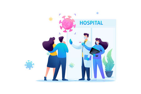 Virus protection, quarantine, social distance, hygiene. Flat 2D. Vector illustration web design.