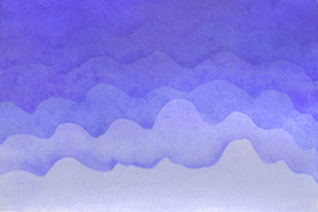 Watercolor hand-painted background illustration. Watercolor gentle cloud on the sky