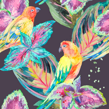 textile design: Exotic. Vector for your design.