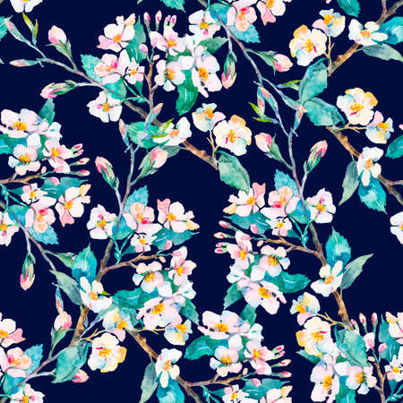 flowering: Flowering branches. Stock Photo