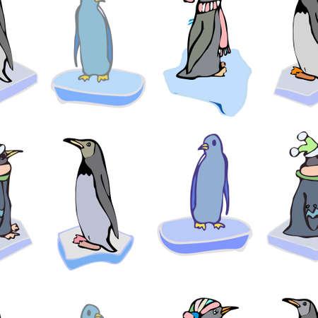 polar life: Illustration for your design and work. Handmade. Illustration