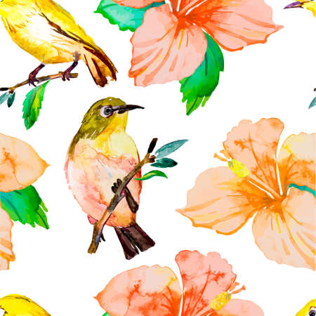 isolated flower: Watercolor pattern for your design.