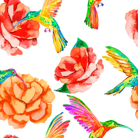 Fashionable and quality pattern. Watercolor handmade painting.