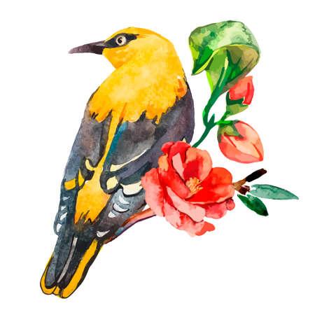 small flock: Illustration for your design and work. Handmade. Illustration