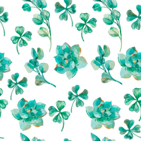 field flowers: Fashionable and quality pattern. Watercolor handmade painting.