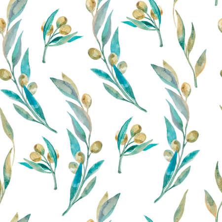 Modische und Qualität Muster. Aquarell handgemaltes Gemälde. Vektorgrafik