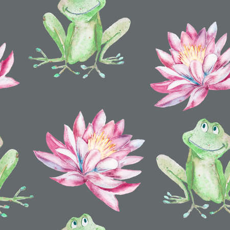 lily pads: Handmade. Watercolor illustration of a high quality for your design. Eco art.