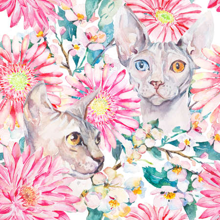 burmese: Handmade. Watercolor illustration of a high quality for your design. Eco art.