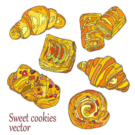 eclair: Handmade. Watercolor illustration of a high quality for your design. Eco art.