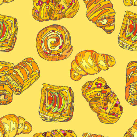 eclair: Handmade. Illustration of a high quality for your design. Eco art.