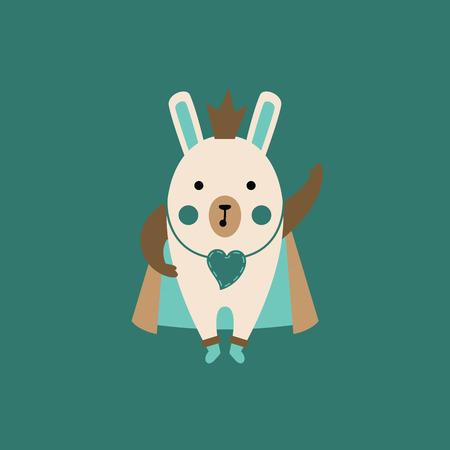 Cartoon rabbit. Vector illustration.  イラスト・ベクター素材