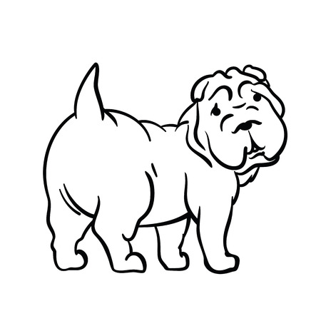 Dog. Vector illustration.