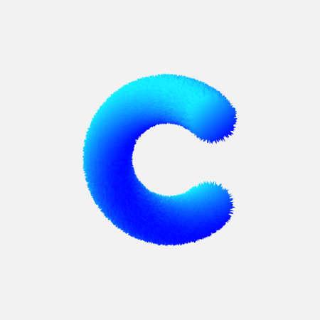 Felpa letra C Ilustración de vector