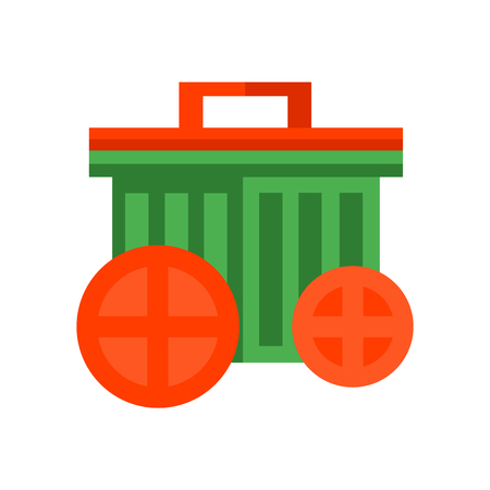 Garbage icon vector isolated on white background for your web and mobile app design, Garbage logo concept