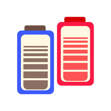 Battery icon vector isolated on white background for your web and mobile app design, Battery logo concept  イラスト・ベクター素材