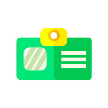 Id card icon vector isolated on white background for your web and mobile app design, Id card logo concept Иллюстрация