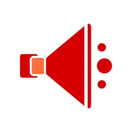Speaker icon vector isolated on white background for your web and mobile app design, Speaker logo concept Stock Illustratie
