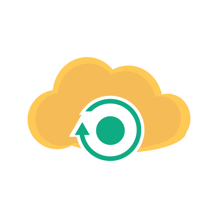 Cloud computing icon vector isolated on white background for your web and mobile app design, Cloud computing logo concept 스톡 콘텐츠 - 107056036