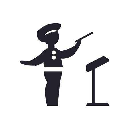 directora director icono del vector aislado en el fondo blanco para su web y aplicación oficial de la aplicación del carácter del símbolo del super héroe
