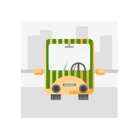 Vector icono de transporte público aislado sobre fondo blanco para su diseño web y aplicaciones móviles, concepto de logo de transporte público