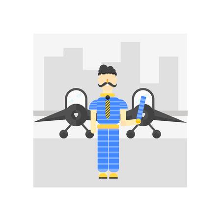 Flughafen-Ikonenvektor lokalisiert auf weißem Hintergrund für Ihr Web- und mobile App-Design, Flughafenlogo-Konzept