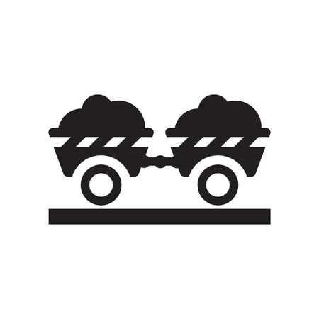 Vecteur d'icône de remorque isolé sur fond blanc pour la conception de votre application web et mobile, concept de logo de remorque