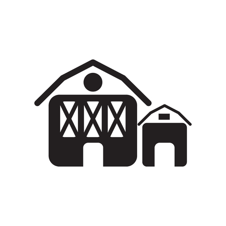 Barn icon vector isolated on white background for your web and mobile app design, Barn logo concept
