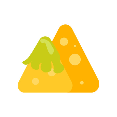 Nachos icon vector isolated on white background, Nachos transparent sign
