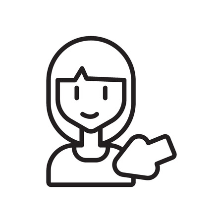 Auswahlsymbolvektor lokalisiert auf weißem Hintergrund, Auswahl transparentes Zeichen Vektorgrafik