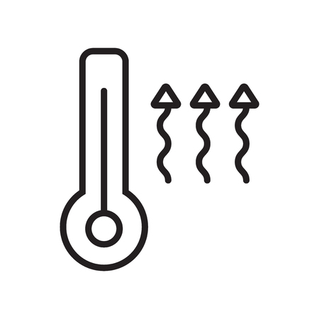 Heat icon vector isolated on white background, Heat transparent sign