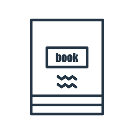 Book icon vector isolated on white background, Book transparent sign
