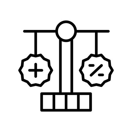 Balance icon vector isolated on white background, Balance transparent sign , line symbol or linear element design in outline style  イラスト・ベクター素材
