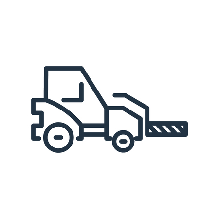 Forklift icon vector isolated on white background, Forklift transparent sign Illustration