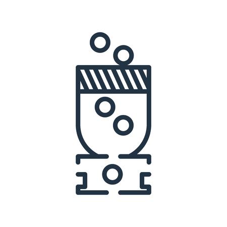 Crusher icona vettoriale isolato su sfondo bianco, segno trasparente Crusher