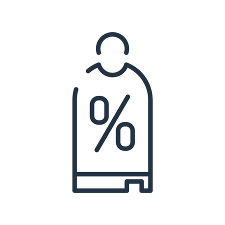 Discount icon vector isolated on white background, Discount transparent sign , line symbol or linear element design in outline style Illustration