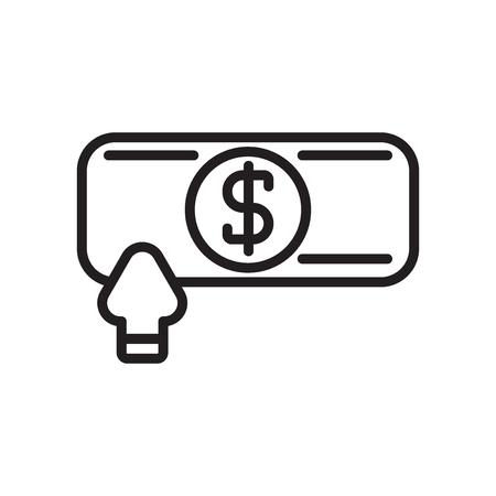 Profits icon vector isolated on white background, Profits transparent sign