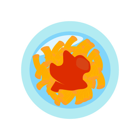 Macaroni icon vector isolated on white background, Macaroni transparent sign
