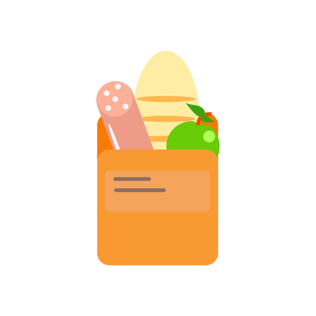 Groceries icon vector isolated on white background, Groceries transparent sign Çizim