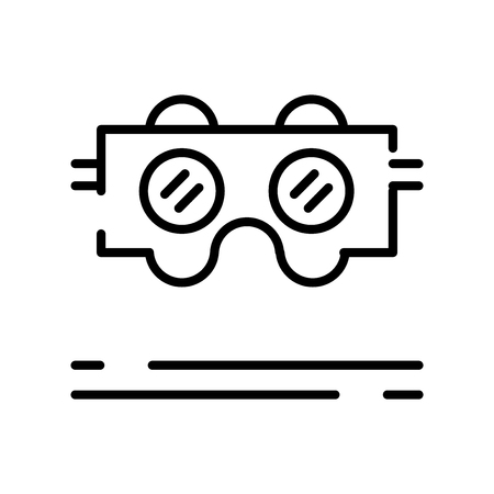 Vr glasses icon vector isolated on white background, Vr glasses transparent sign , line symbol or linear element design in outline style Illustration