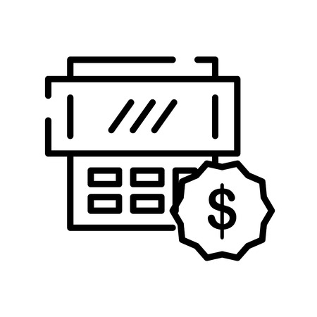 Taxes icon vector isolated on white background, Taxes transparent sign , line symbol or linear element design in outline style Illustration