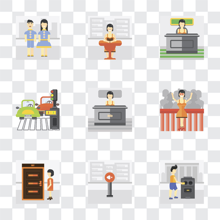 Set Of 9 simple transparency icons such as Voting, Silence, Exit, Winner, Info, Pedestrian, Work, Reading, Kids, can be used for mobile, pixel perfect vector icon pack on transparent background