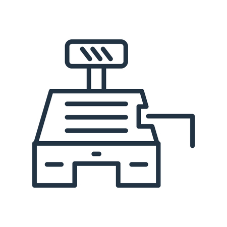 Cashbox icon vector isolated on white background, Cashbox transparent sign