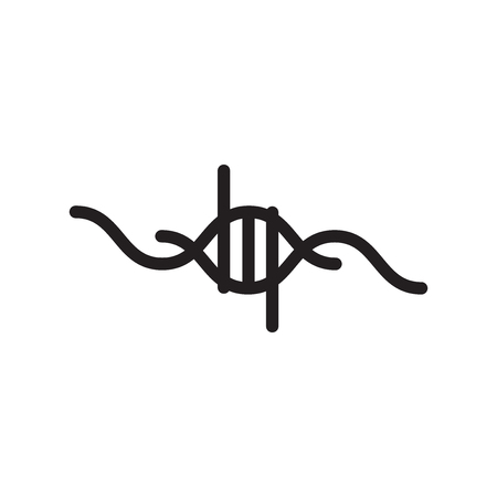 Dna icon vector isolated on white background, Dna transparent sign , line symbol or linear element design in outline style