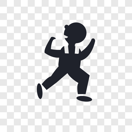 Dancing Man vector icon isolated on transparent background, Dancing Man logo concept