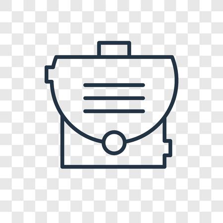 Icône de vecteur de porte-documents isolé sur fond transparent, concept logo porte-documents Logo