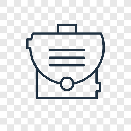 Briefcase vector icon isolated on transparent background, Briefcase logo concept