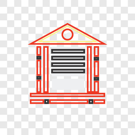 Banking vector icon isolated on transparent background, Banking logo concept