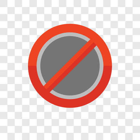 Forbidden vector icon isolated on transparent background, Forbidden logo concept Illustration
