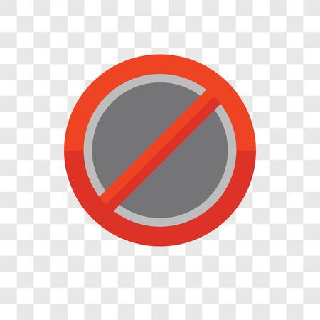 Forbidden vector icon isolated on transparent background, Forbidden logo concept Ilustração